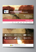 Business card templates. Easy editable layout, abstract vector design template