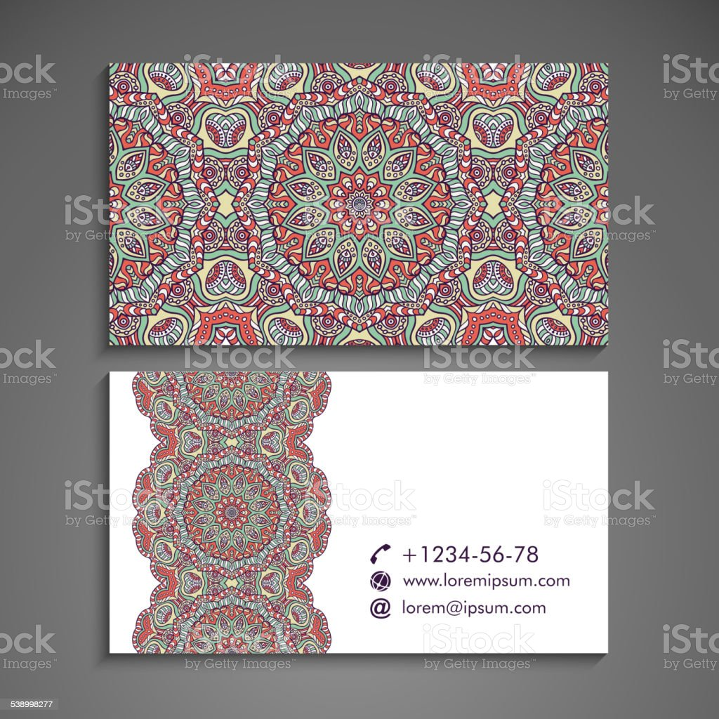 Business card. vector art illustration