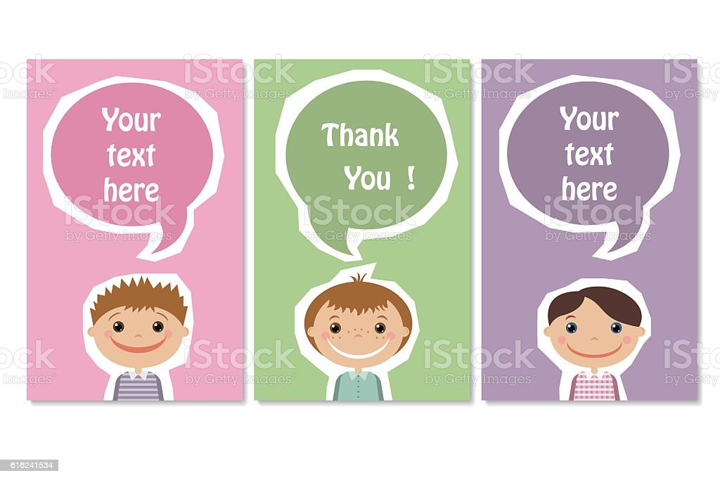 business card with a picture of children royalty-free stock vector art