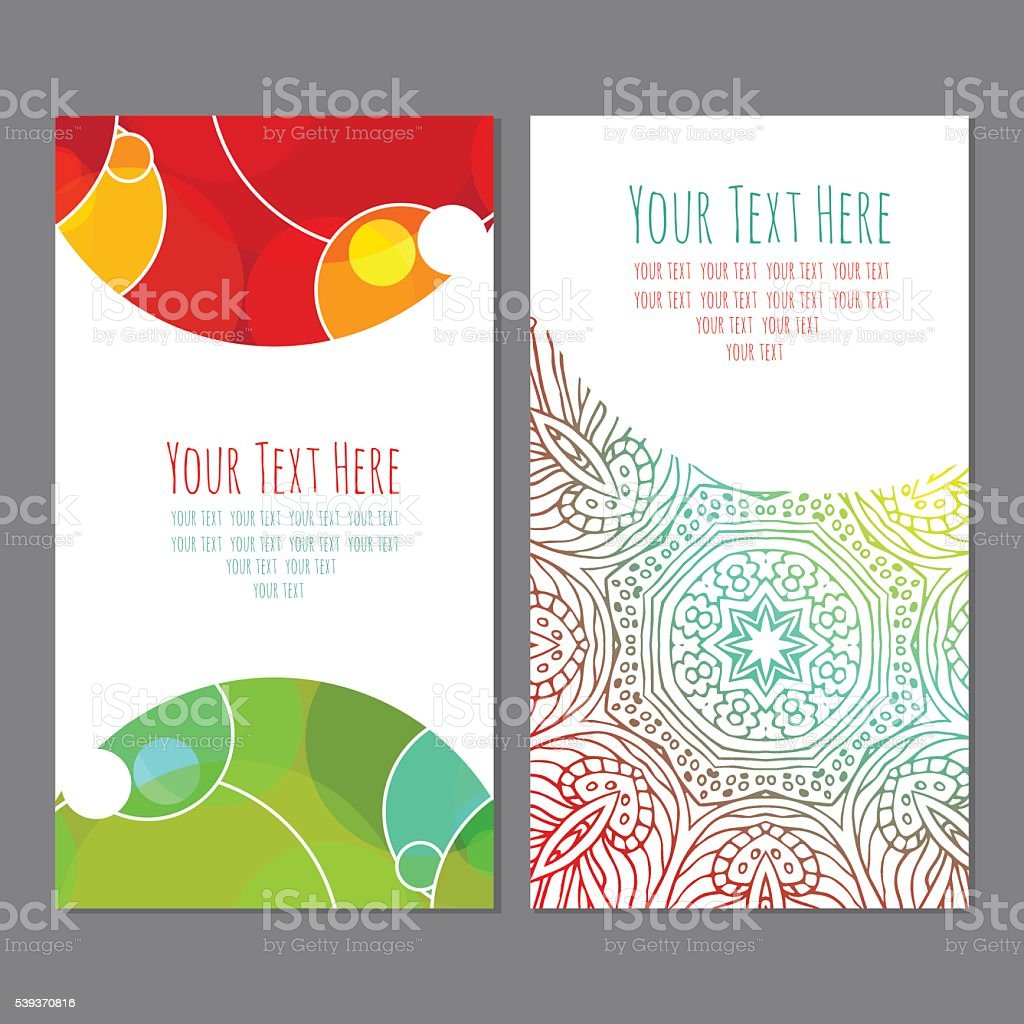 business cardbusiness card with an ornament royalty-free stock vector art