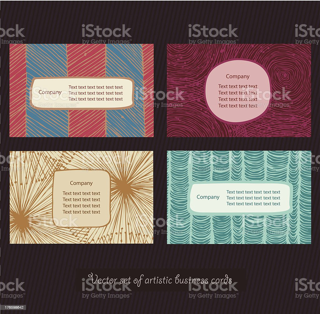 Business cards bright set. Style elements. Personal identity royalty-free stock vector art