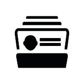 Business cards database icon vector illustration eps10 on white background