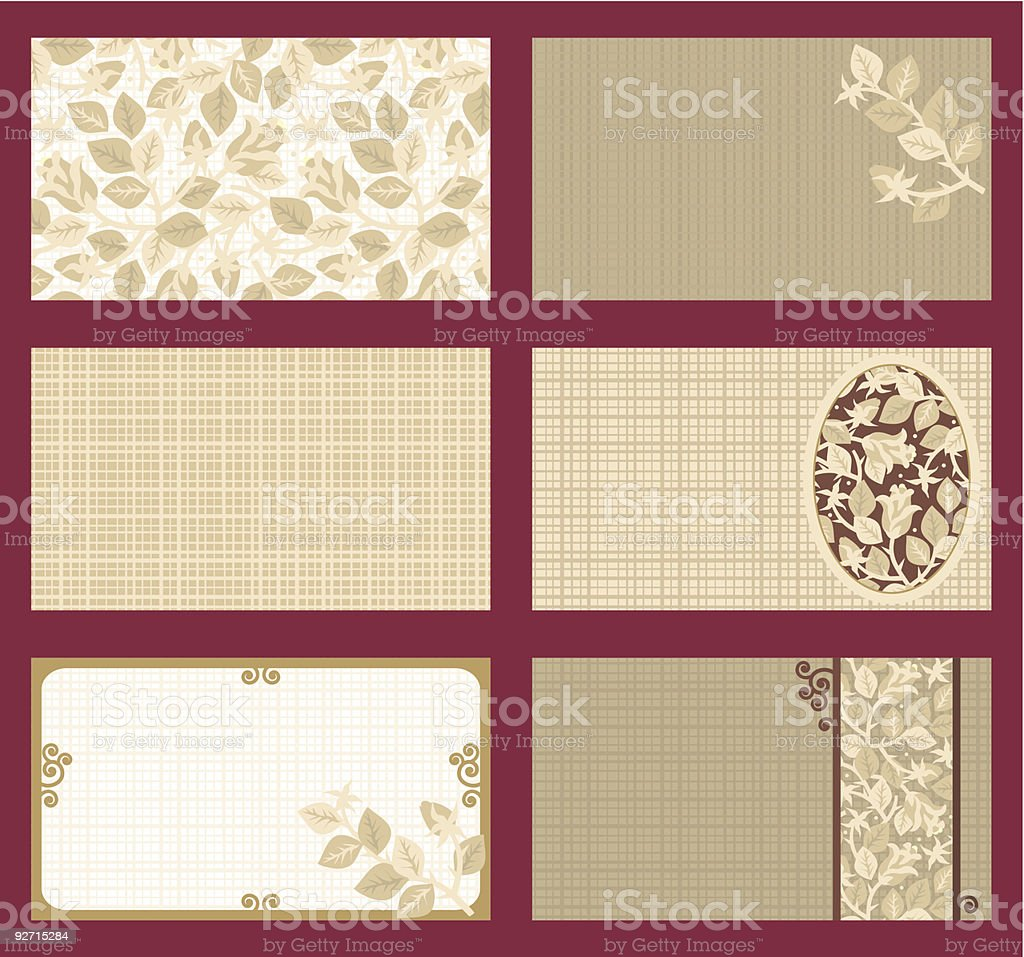 Business cards, gift tags, invitations, etc. templates royalty-free stock vector art