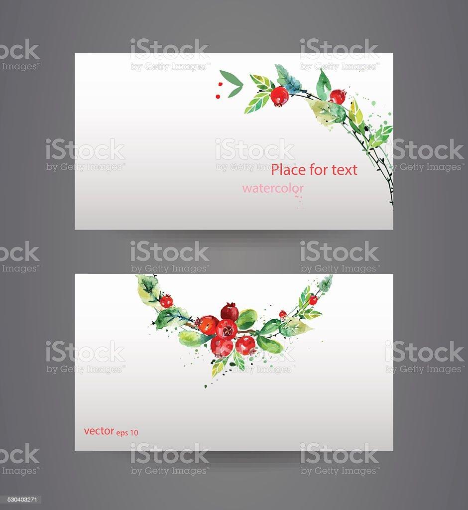 Business cards template. vector art illustration