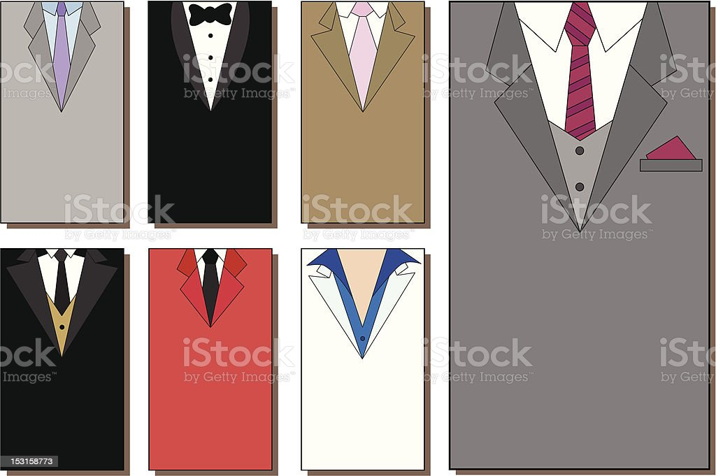 Business cards vector art illustration