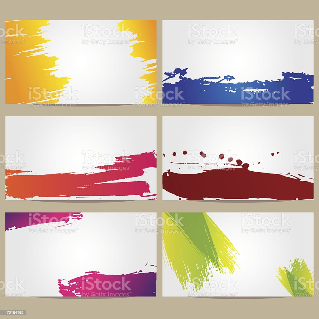 Business cards with blots royalty-free stock vector art