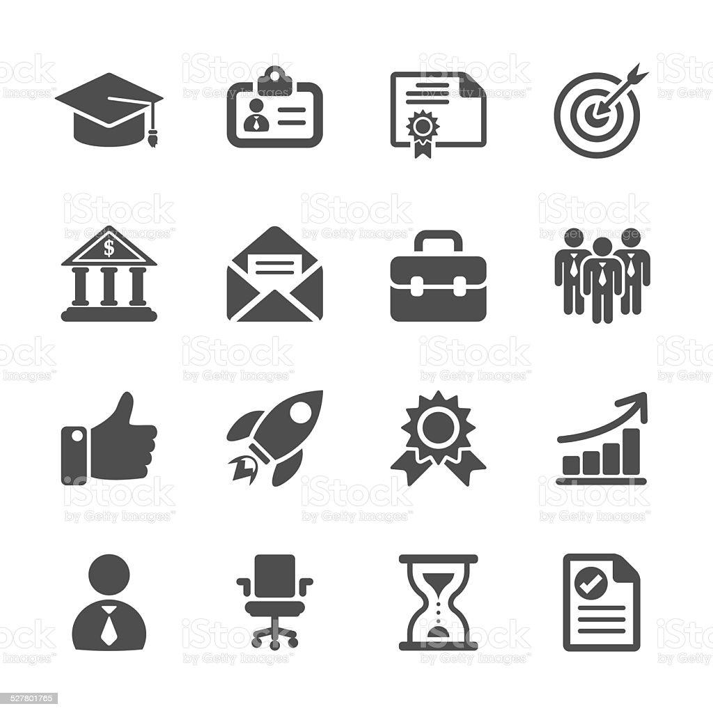 business career work icon set, vector eps10 vector art illustration