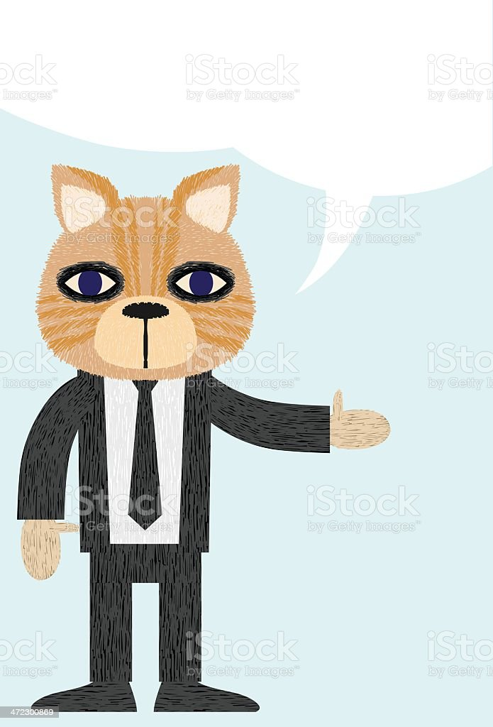 Business Cat Presentation royalty-free stock vector art