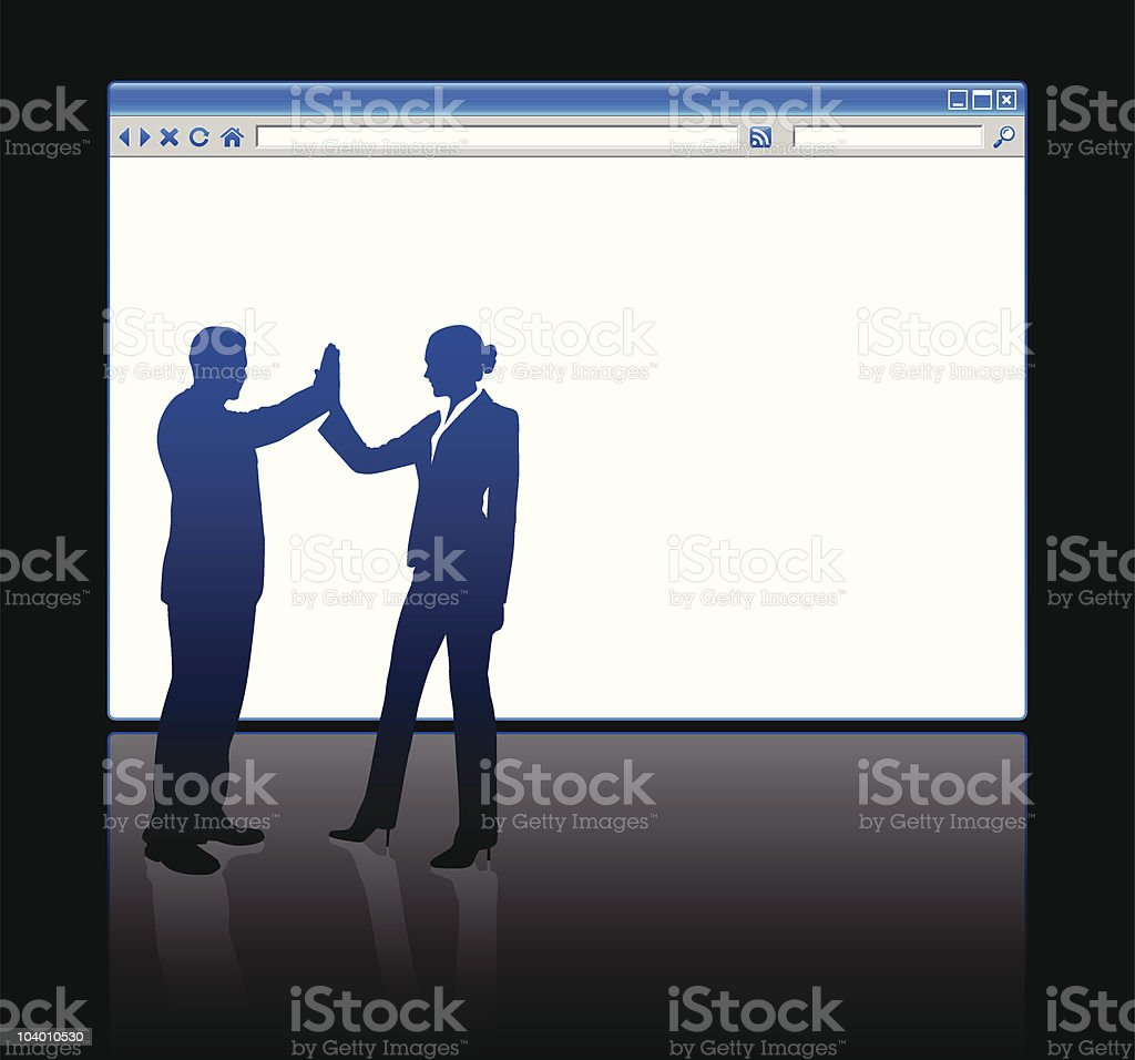 Business celebration on background with web browser blank page royalty-free stock vector art