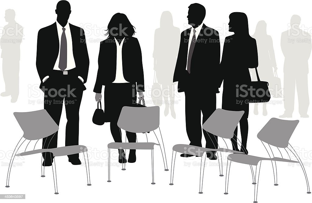Business Chairs royalty-free stock vector art