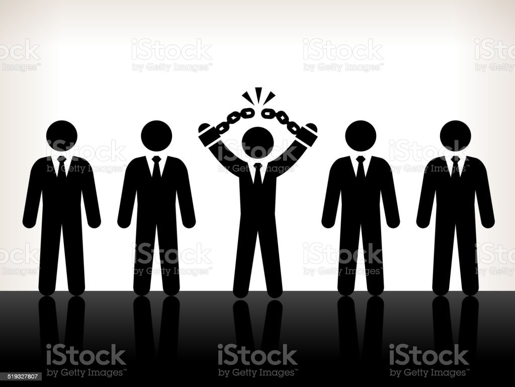 Business Challenges and Success Back and White Illustration vector art illustration