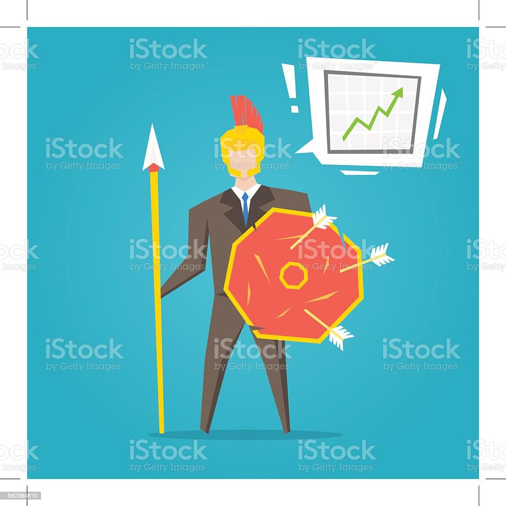 Business character creative concept. vector art illustration