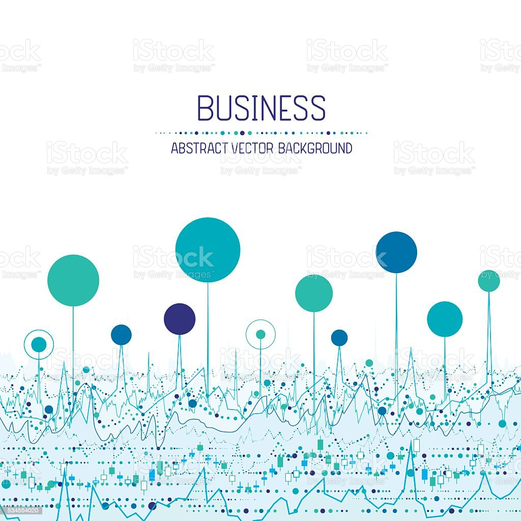 Business chart background vector art illustration
