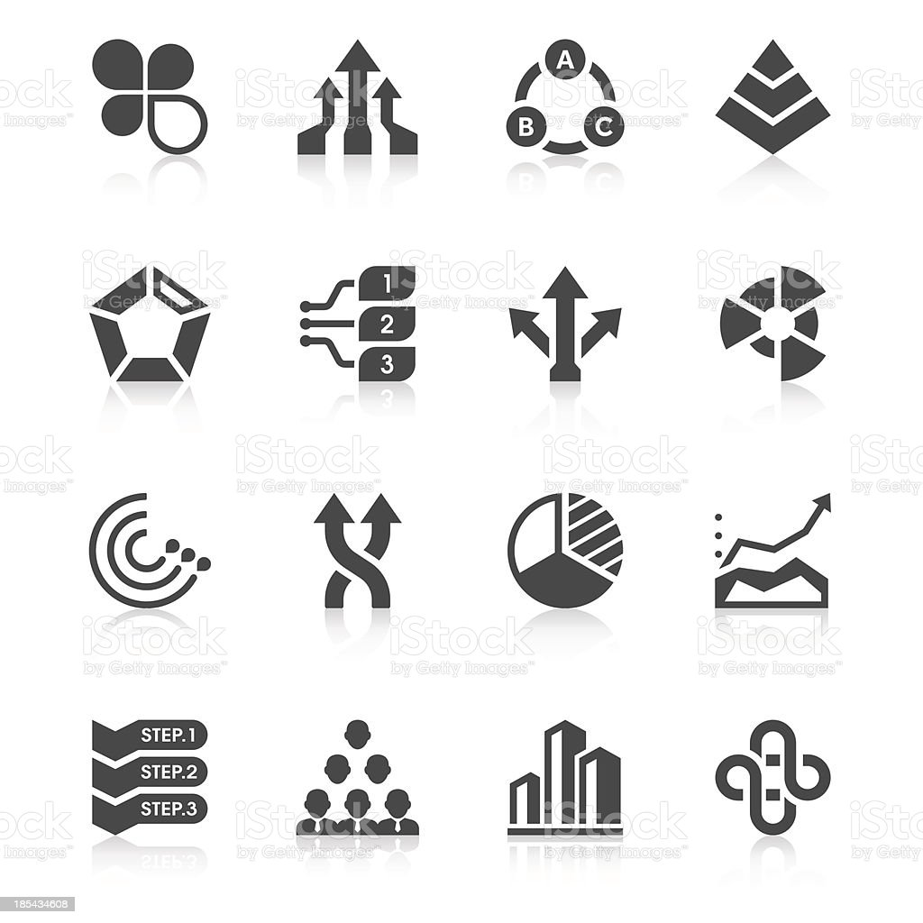 Business Chart Icon Set   Unique Series royalty-free stock vector art