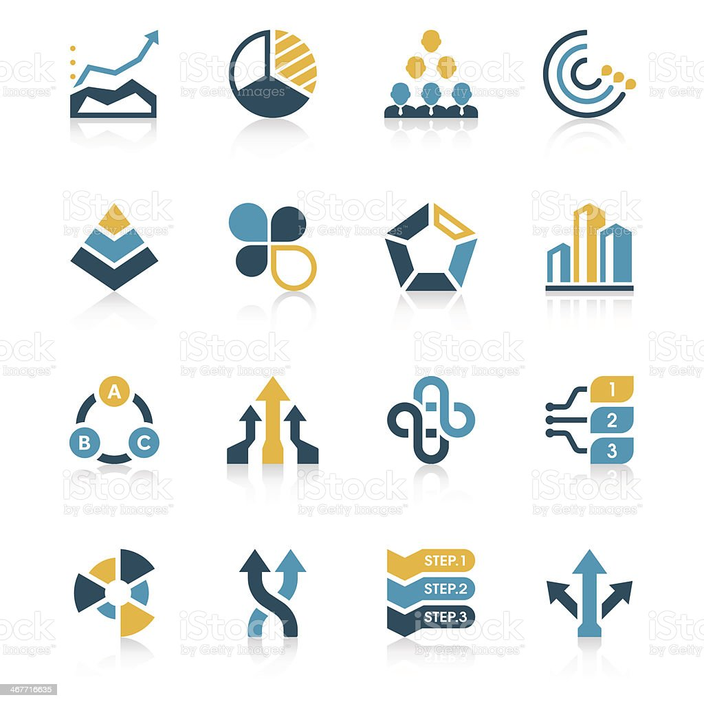 Business Chart Icon Set | Vivid Series vector art illustration