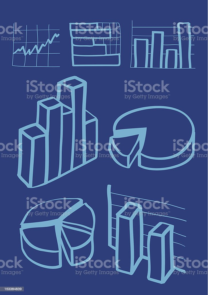 Business charts icon royalty-free stock vector art