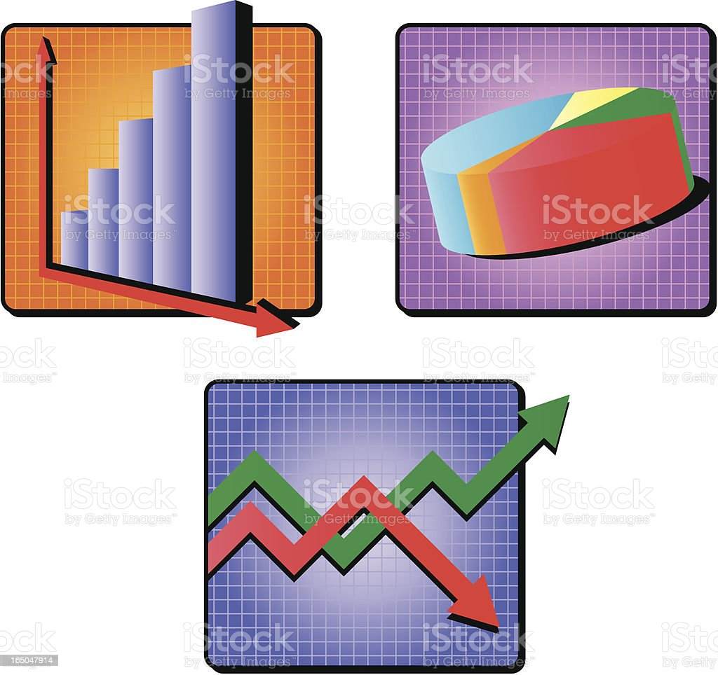 business charts royalty-free stock vector art
