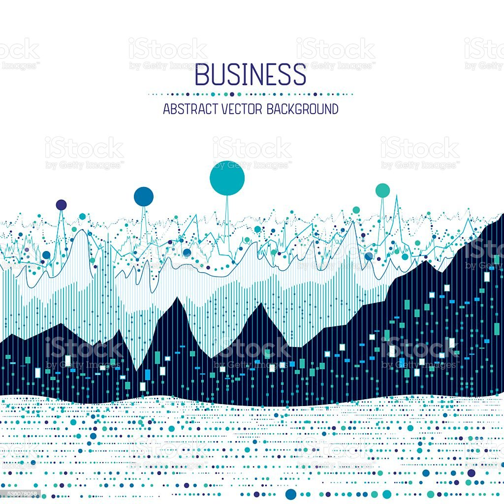 Business charts vector art illustration