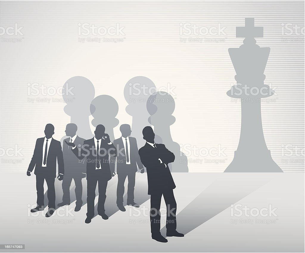 Business Chess Team royalty-free stock vector art