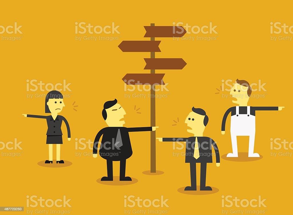 Business choice vector art illustration