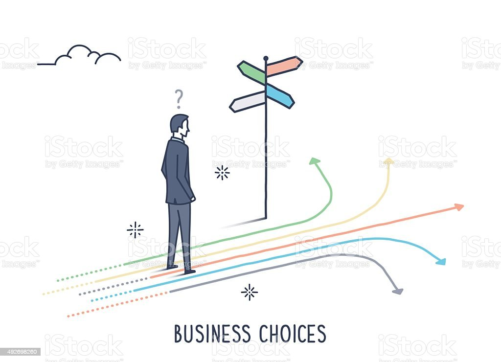 Business Choices vector art illustration