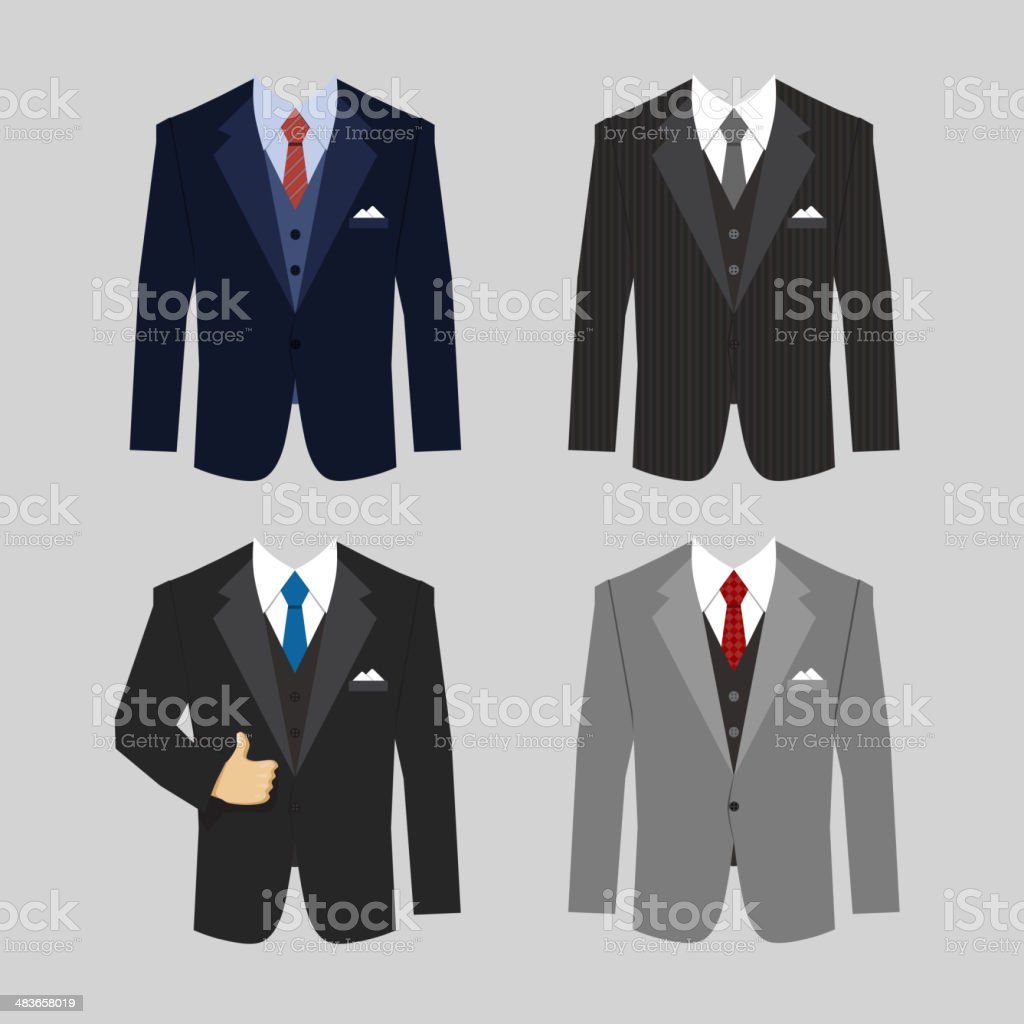 business clothing suit vector art illustration
