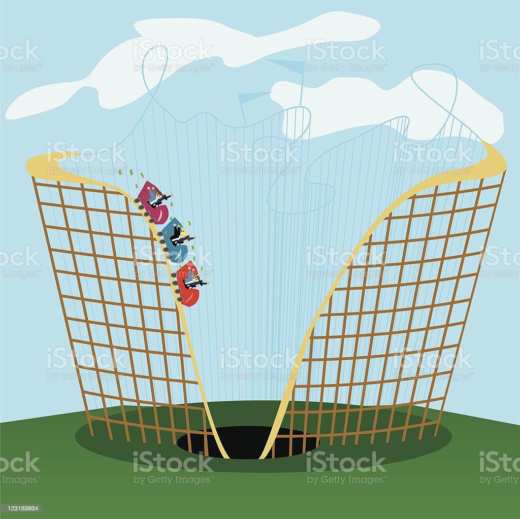 Business Coaster vector art illustration