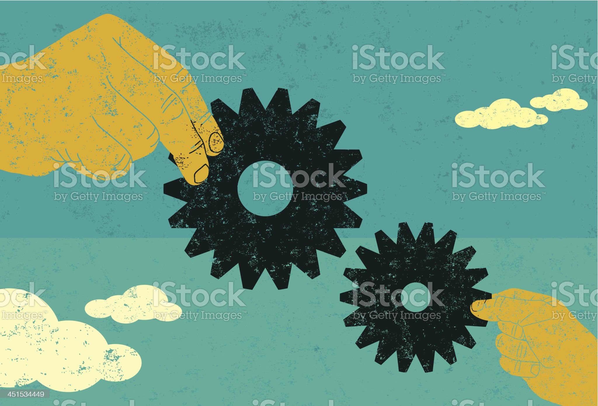 Business collaboration royalty-free stock vector art