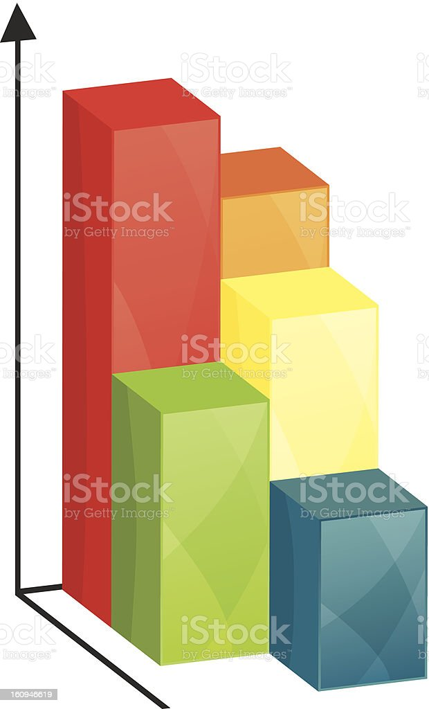 Business colorful graph royalty-free stock vector art