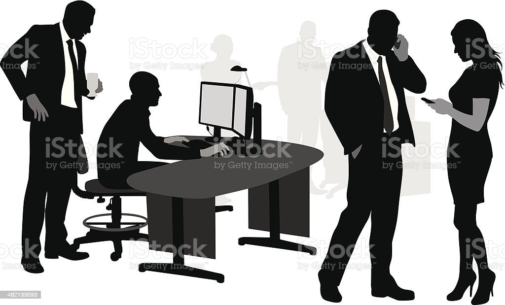 Business Comms royalty-free stock vector art