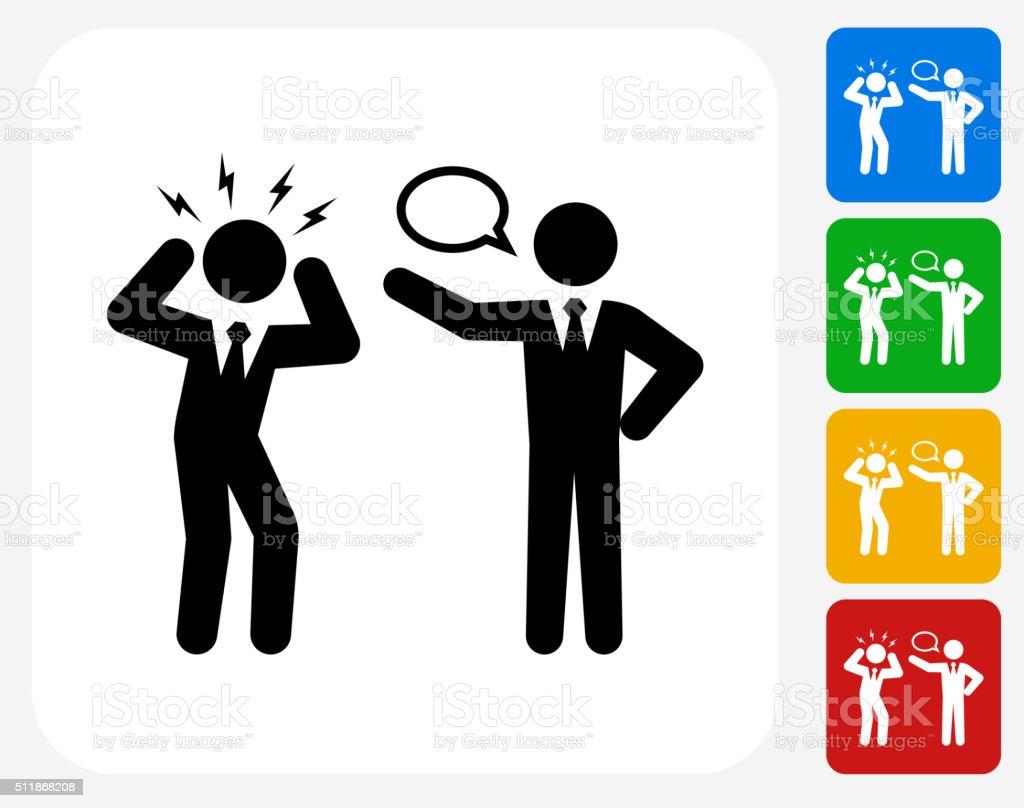Business Communication Icon Flat Graphic Design vector art illustration
