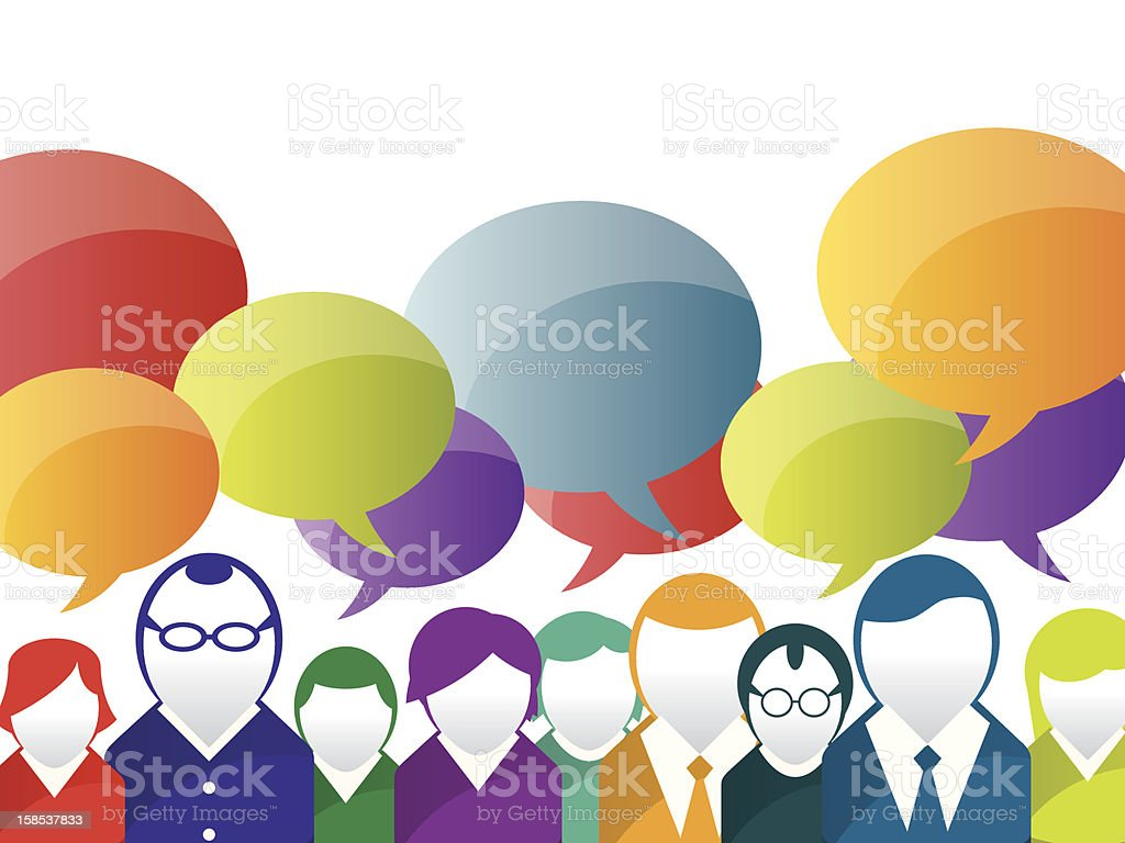 business communication vector art illustration
