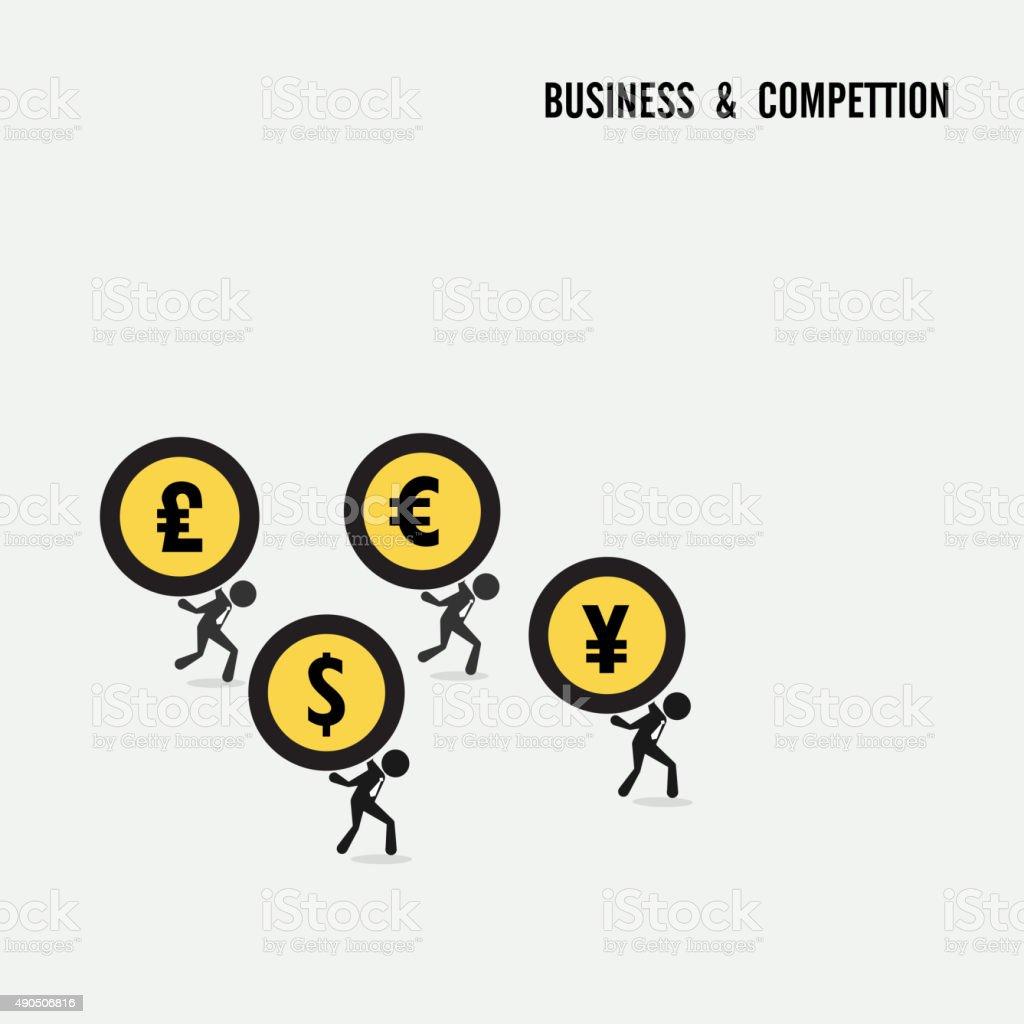 Business competition idea concept. vector art illustration