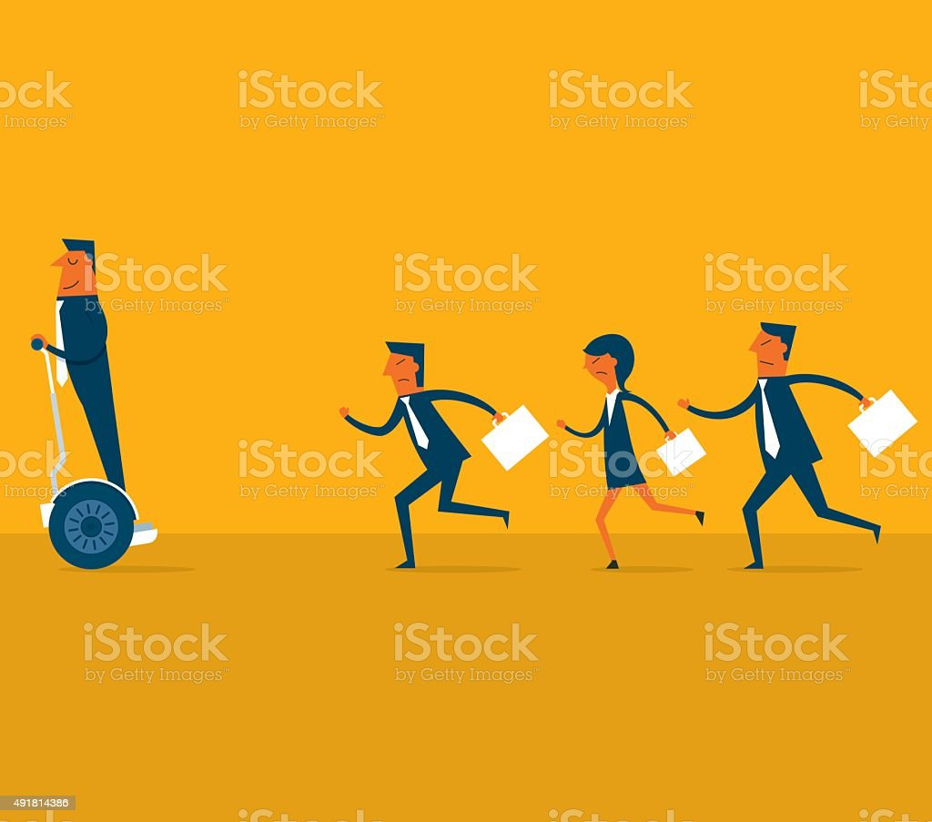 Business Competition vector art illustration