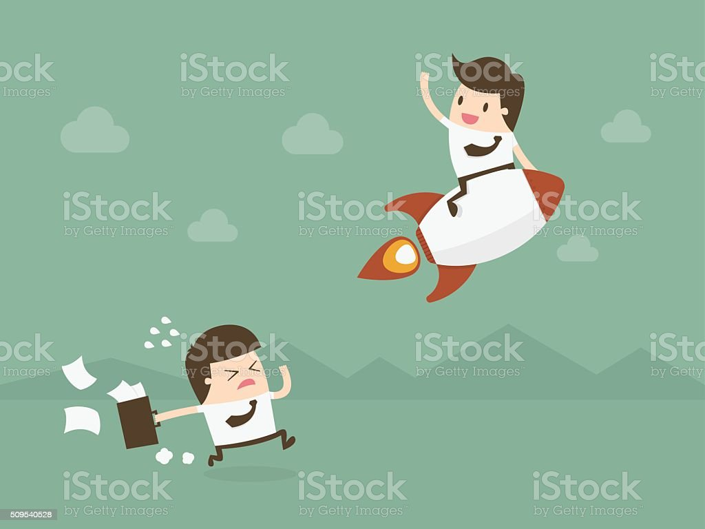 Business competition. vector art illustration