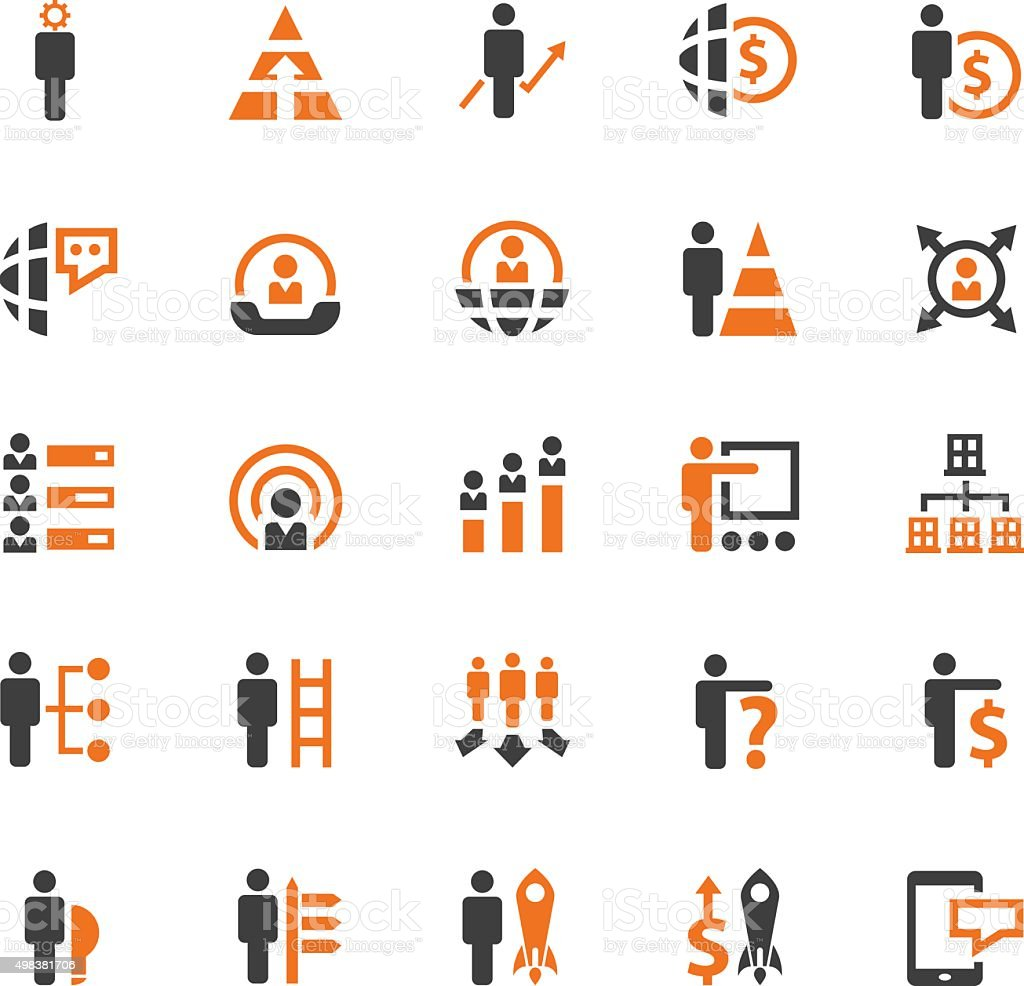 Business concept icons vector art illustration