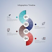 Business concept infographic step to successful. vector illustra