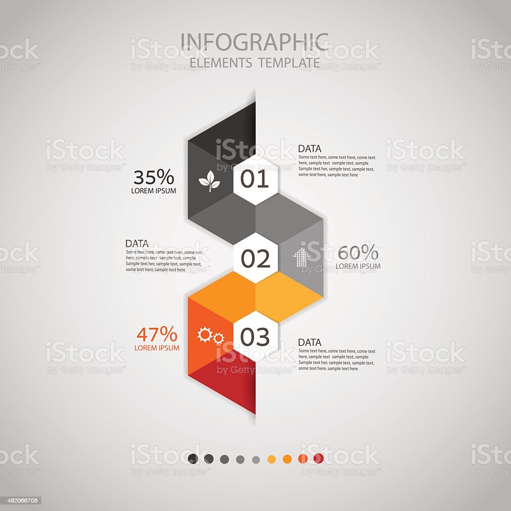 Business concept infographic step to successful,vector illustration vector art illustration