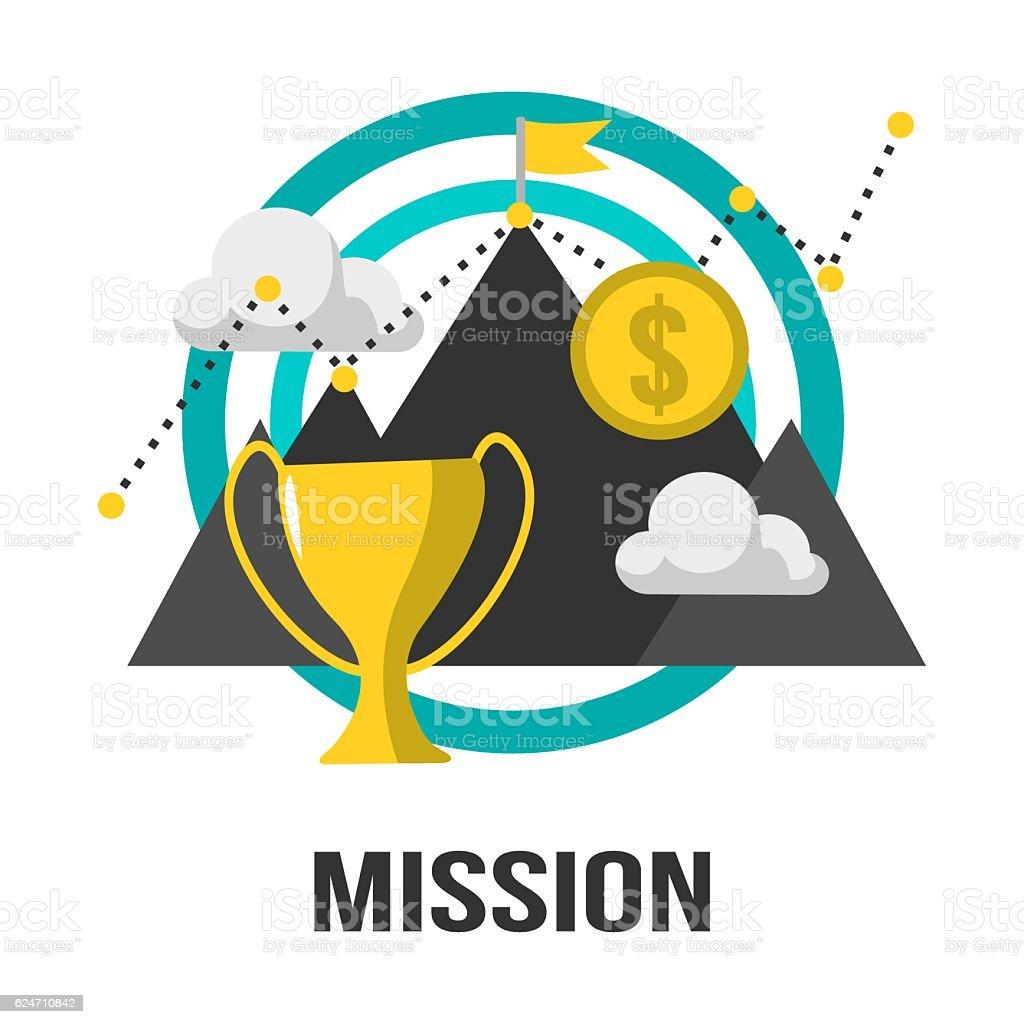 Business Concept Mission Sign Design vector art illustration