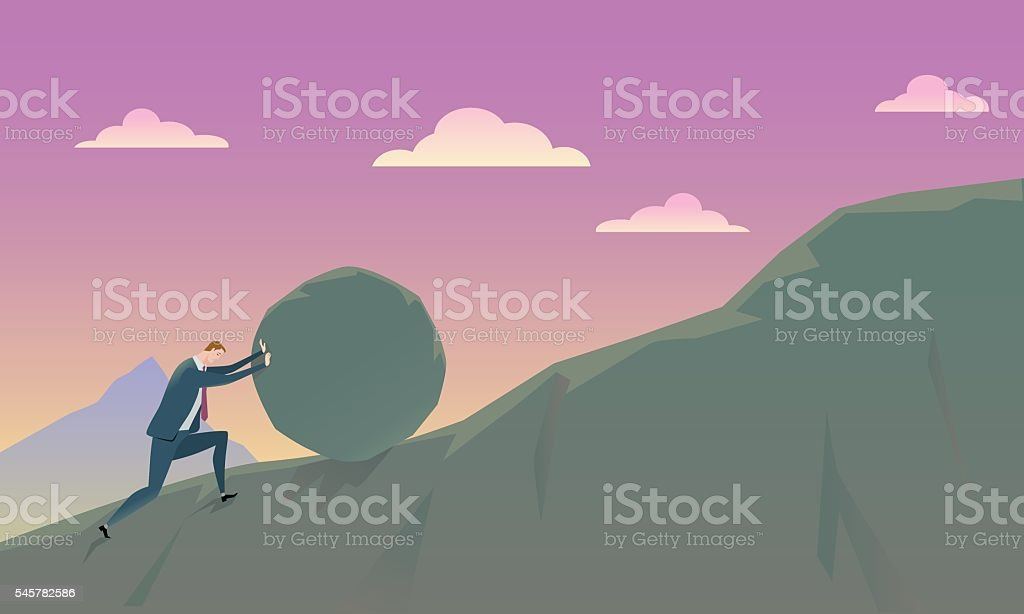 Business Concept of Conquering. vector art illustration