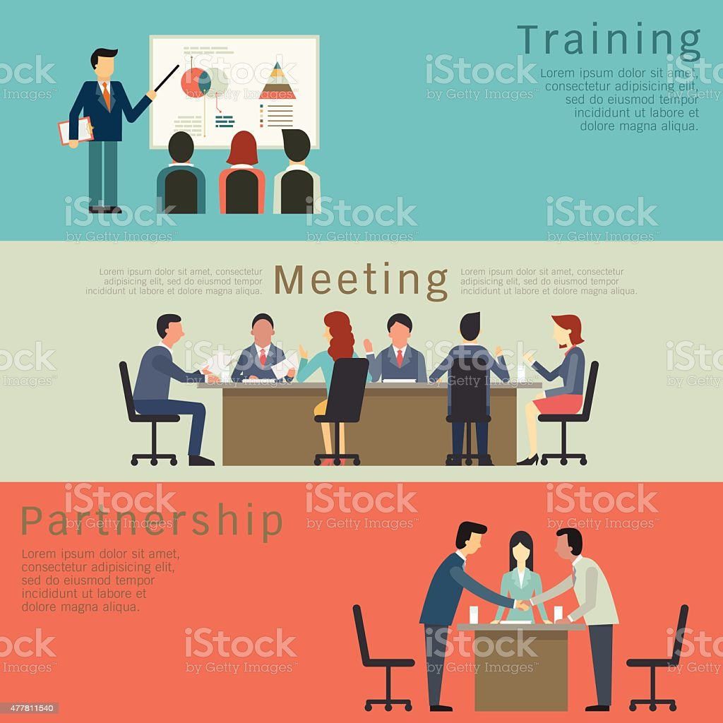 Business concept set vector art illustration