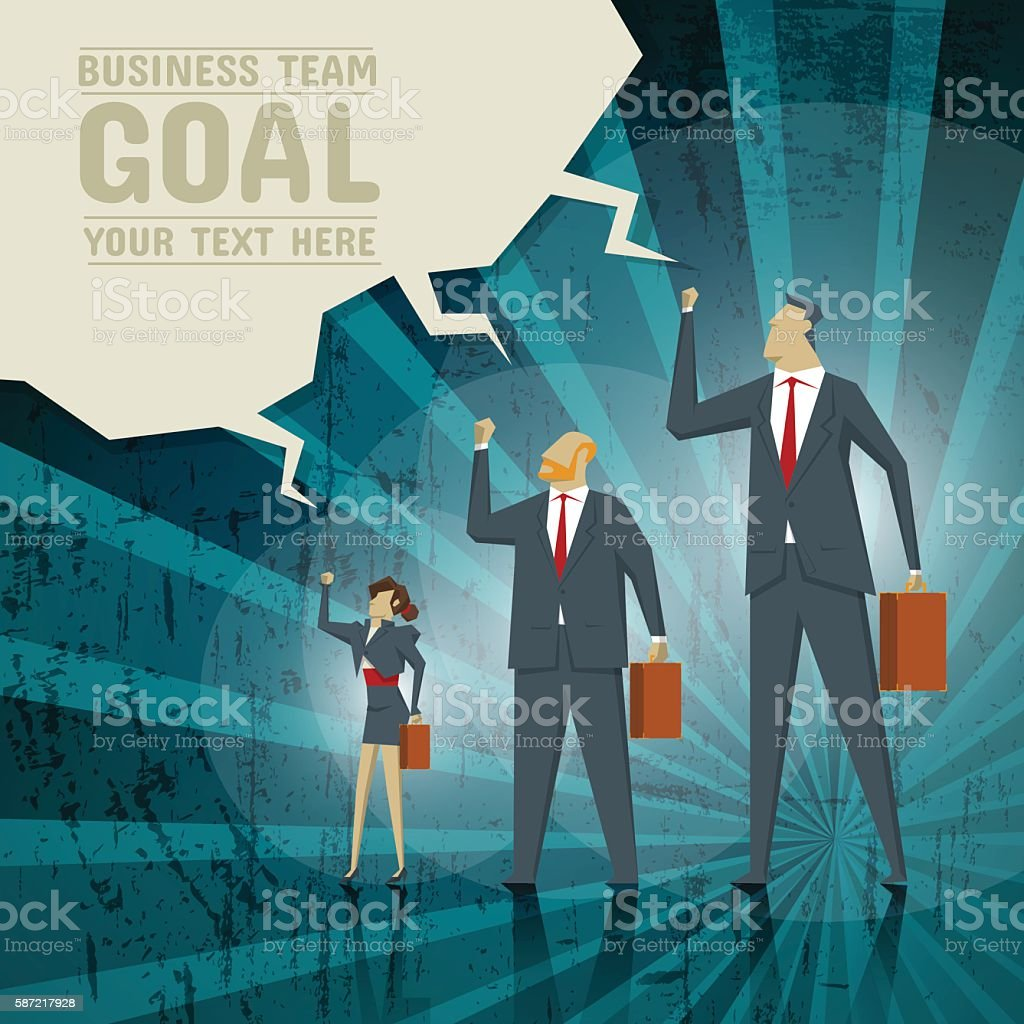 Business Concept, Team strives to achieve business goals. vector art illustration