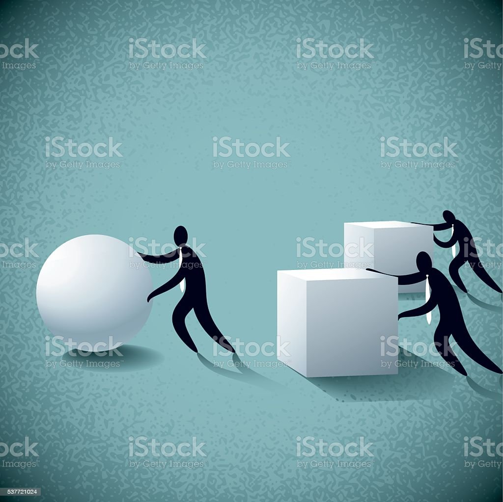 business concept vector art illustration