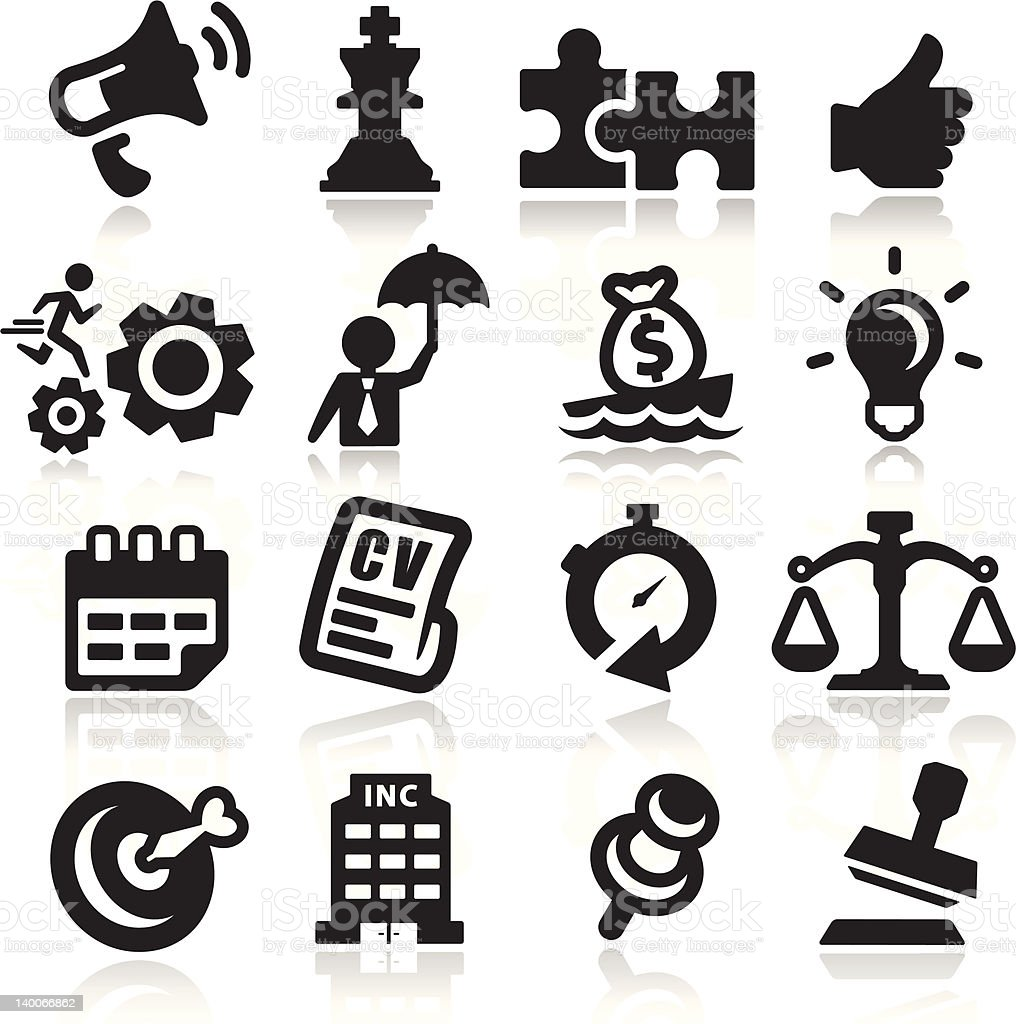 Business concepts icons - Elegant series royalty-free stock vector art