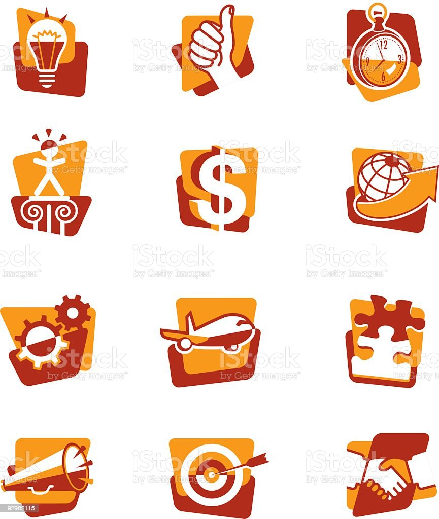 Business Concepts Icons royalty-free stock vector art