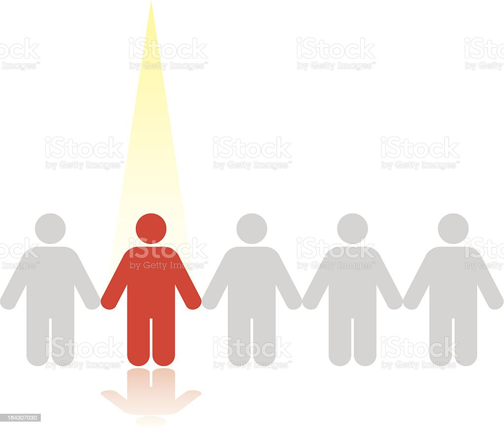 Business Concepts: Stand Out from the Crowd 4 vector art illustration