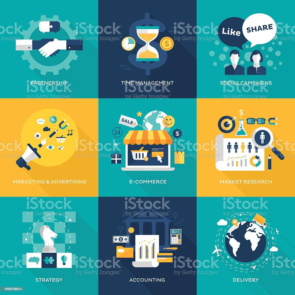 Business concepts vector art illustration