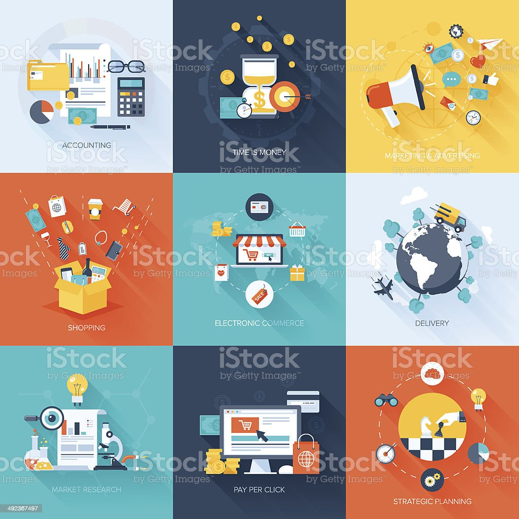 Business concepts. vector art illustration
