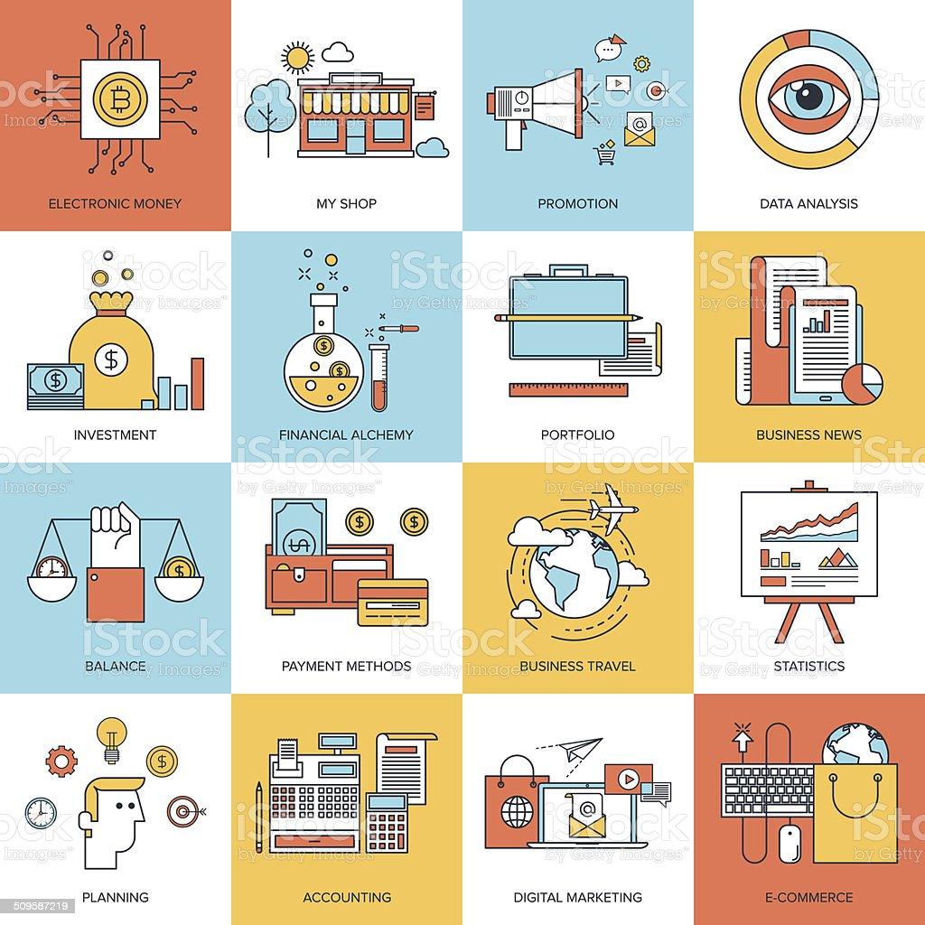Business concepts. vector art illustration