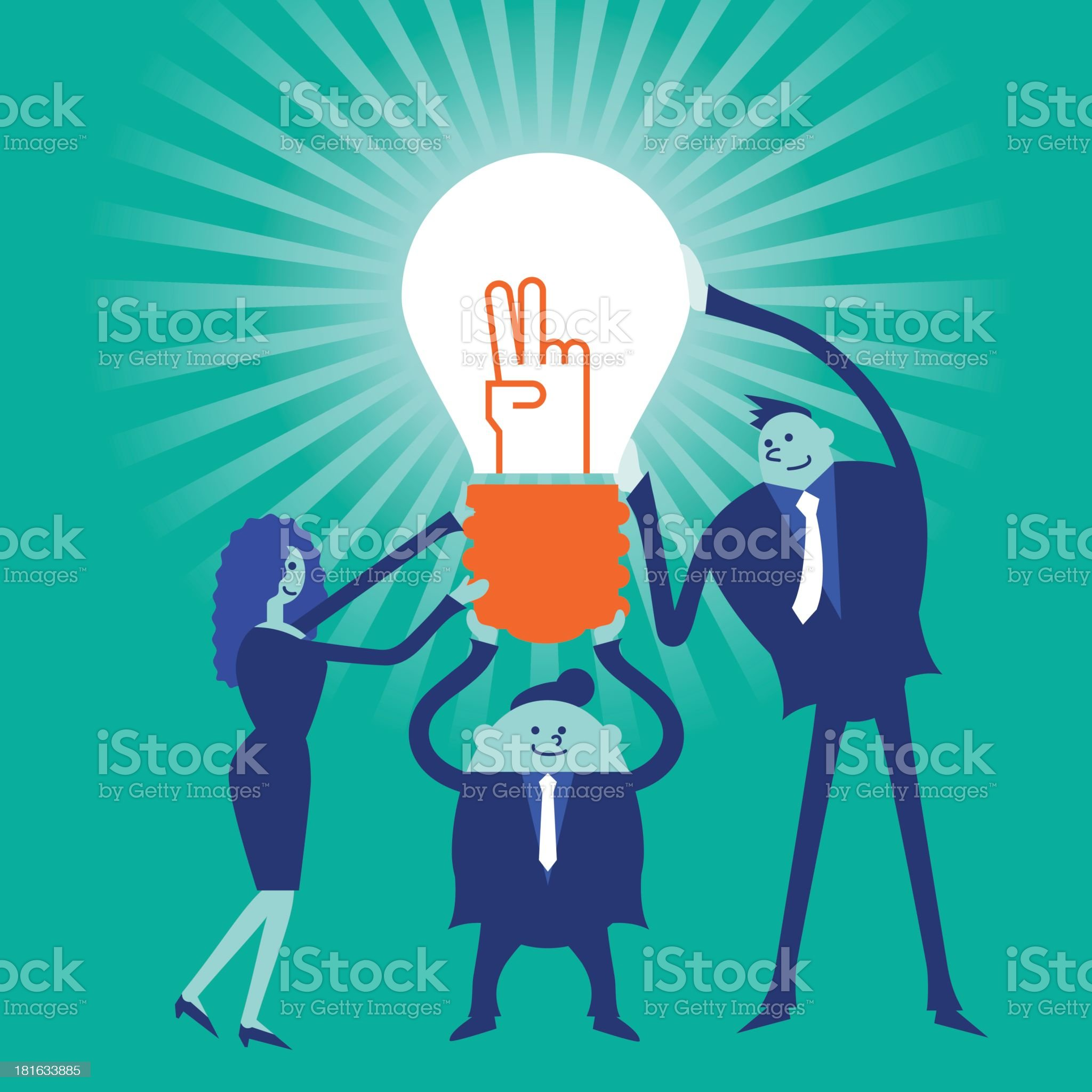 Business concept[Teamwork] royalty-free stock vector art